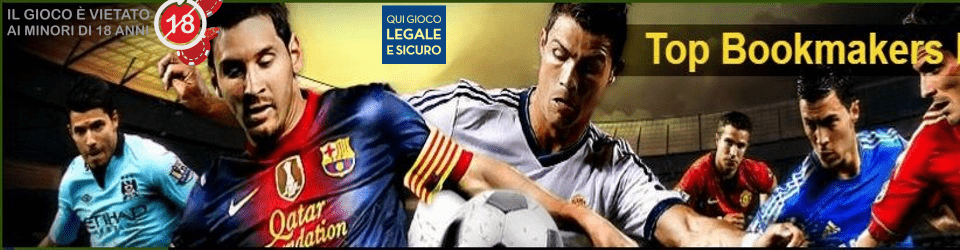 ▷▶ Top Bookmakers scommesse ADM e NON ADM (AAMS)