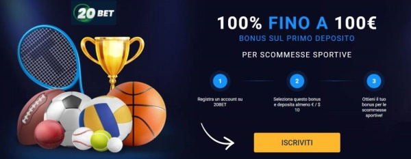 20Bet - nuovo sito scommesse non AAMS (ADM)